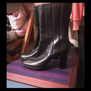 Cole Haan Leather high heel boots